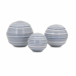 Coolly Nostalgic Set of 3 Libby Spheres by IMAX