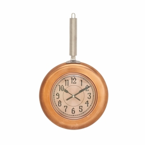 Copper Finish Metal Wall Clock - 98440 by Benzara