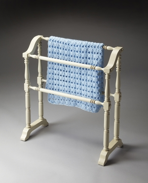 """Cottage White Blanket Rack 28""""W by Butler Specialty"""