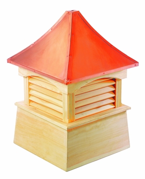 """Coventry Cupola 18"""" x 24"""" - Cypress Wood and Copper by Good Directions"""