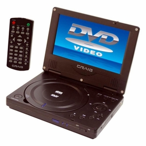 Craig 7-Inch TFTSWIVEL SCREEN Portable DVD/CD Player with Remote, Black