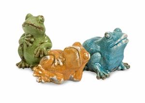 Creative Styled Garza Casual Frogs - Set of 3 by IMAX