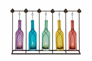 Creatively Styled Metal Glass Votive Holder - 55571 by Benzara