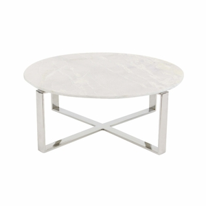 Cross Design Marble Coffee Table - 57340 by Benzara
