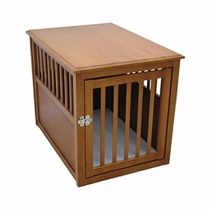 Crown Pet Crate Table, Large Size, with Mahogany Finish