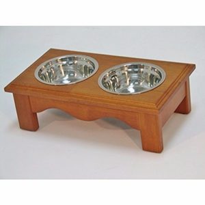 Crown Pet Diner, Small size, with Chestnut Finish