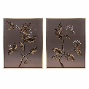 Cultivated Shadow Framed Oil Paintings - Assortment of 2 - Benzara