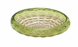 Customary Styled Glass Green Bowl - 67318 by Benzara