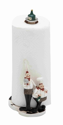 Cute and Adorable Polystone Chef in Black and White - 69498 by Benzara