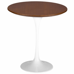 Daisy 20, Walnut Top Side Table in White