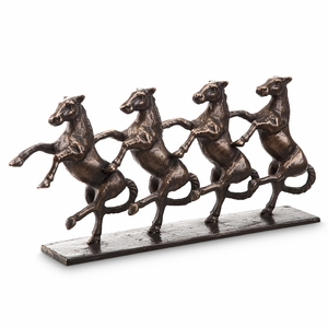 Dancing Horses Standing on Hind Legs in Parade by SPI-HOME