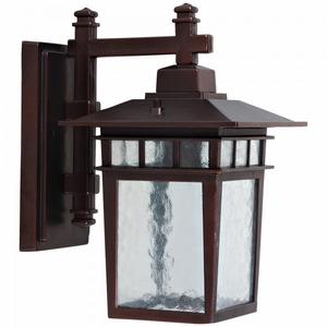 Dante Collection Classy 1 Light Exterior Light Wall Mount in Oil Rubbed Bronze