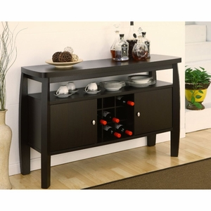 Daria Curved Panel Transitional Cabinet