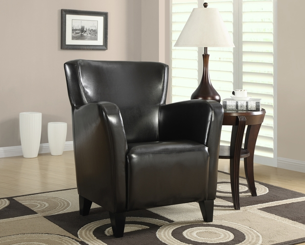 Monarch specialties inc mhs i 8075 dark brown leather look for Wild orchid furniture