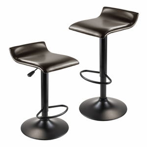 Winsome Woods Dark Espresso Attractive Paris Airlift Stools (Set of 2)