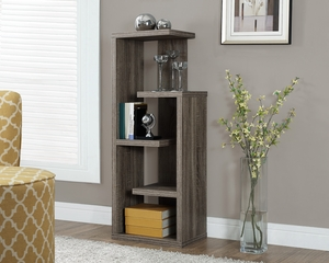"""Dark Taupe Reclaimed-Look 48""""H Accent Display Unit"""