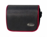 DCS100 Digital Camera Case for G10, G11, G12 Black with Red Trim