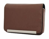 DCS86 Compact Leather Digital Camera Case Brown