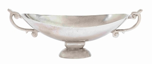 Aluminumdecorative Bowl For Modern Look With Elegant Curves - 27454 by Benzara
