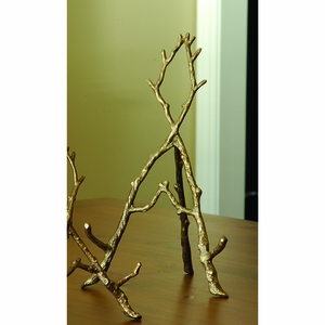 decorative Brass Easel in Branch Replica (Large) by SPI-HOME