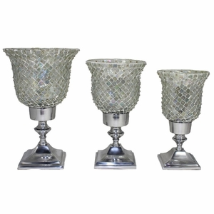 Decorative Candle Holders-Set of - - Benzara