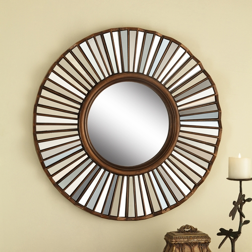 Round Shaped Wall Decor : Spi home decorative round shaped mosaic wall mirror