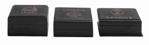 Woodendecorative Box With Classic And Modern Style In Black - 24900 by Benzara