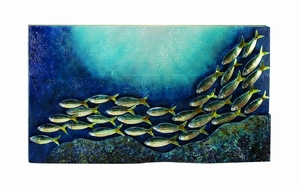 Metal Wall Art With 40 Inch Width - 13071 by Benzara