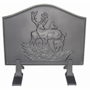 Deer Cast Iron Fireback by US Stove