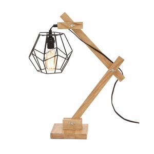 Delightful Wood Table Lamp with Bulb - 39109 by Benzara
