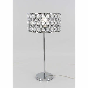 Designer Metal Crystal Table Lamp - 72654 by Benzara