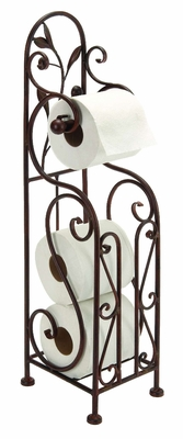 Metal Toilet Paper Holder For Bathroom Toilet Furnishing - 63149 by Benzara