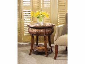 """Designer's Edge Round End Table 24""""Diam. by Butler Specialty"""