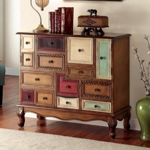 Desree Vintage Style Accent Chest, Antiqued Walnut