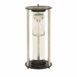 Distinctive Aluminum Glass Floating Sand Timer - 24526 by Benzara