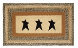 Distinctive Kettle Grove Jute Rug Rect Stencil Star by VHC Brands