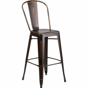 Flash Furniture Distressed Copper Barstool Decor