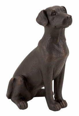 Table Top Polystone Dog Statue - 55601 by Benzara