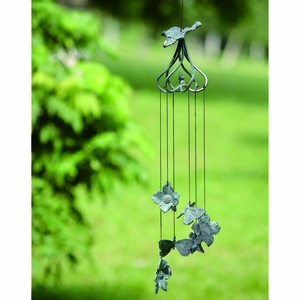Dogwood Flower and Butterfly Aluminum Wind Chime by SPI-HOME