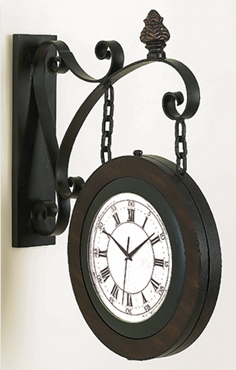 METAL WALL 2 SIDE CLOCK FOR BETTER TIME KEEPING - 80433 by Benzara