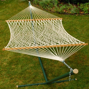 Double size 15' Cotton Rope Hammock by Algoma