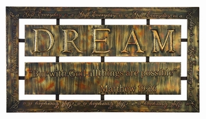 METAL WALL PLAQUE MAKES THE HOME STAY MORE INVOLVING - 39402 by Benzara