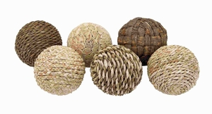 decorative Ball with Casual and Simple Design (Set of 6) - 42958 by Benzara