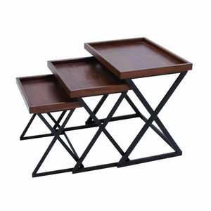 Durable and Metal Crafted Accent Table with Strong Stand - 50487 by Benzara