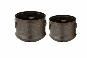 Durable Set Of Two Metal Hose Holder - 47553 by Benzara