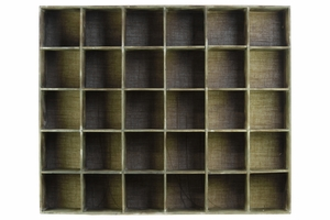 Durable Wood Shelf with 30 Slots