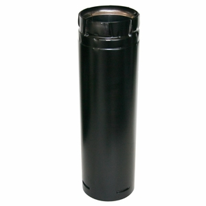 "Duravent 3"" X 12"" Stainless Black Straight Pipe by US Stove"