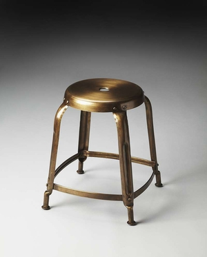 "Dutton Bronze Iron Stool 14.75""W by Butler Specialty"