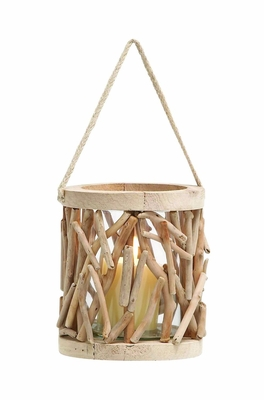 Elegant and Attractive  Wooden Lantern with Classic Design - 69499 by Benzara
