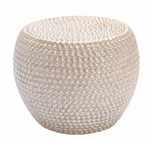 Authentic Beaded Turkish Stool - 62165 by Benzara